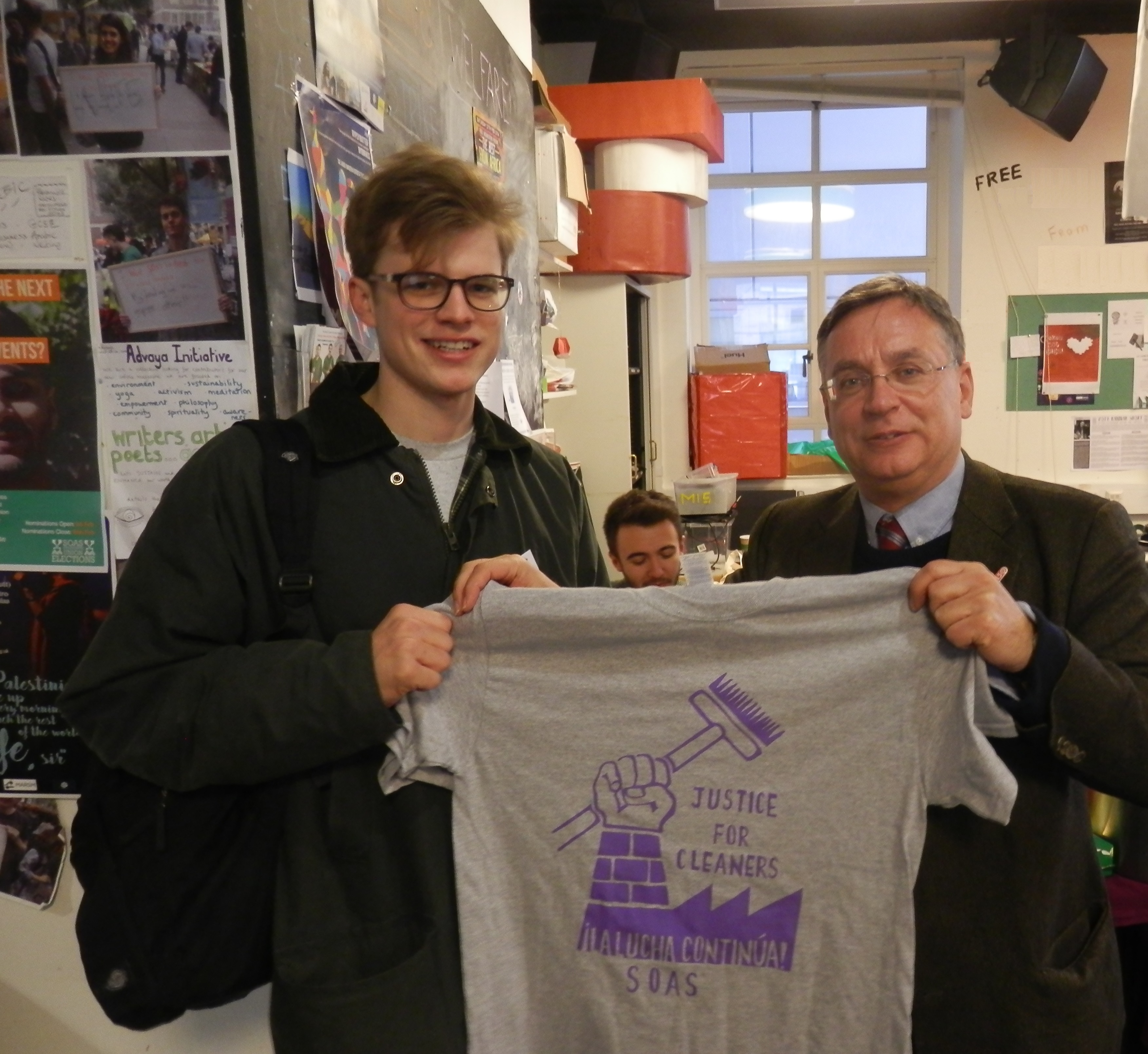 Andrew Dismore AM with Will Armston-Sheret, Chair of SOAS Labour Club
