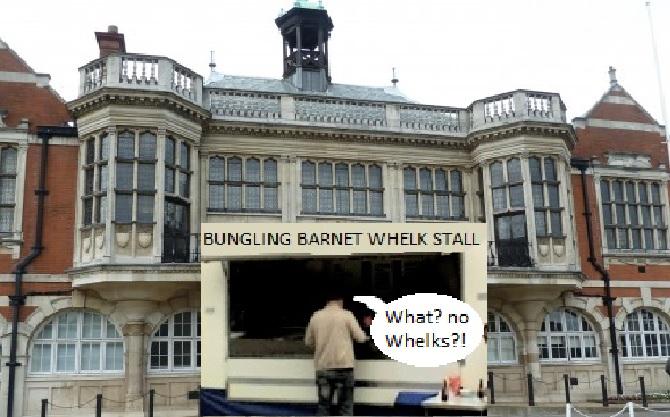 Barnet Council whelk stall