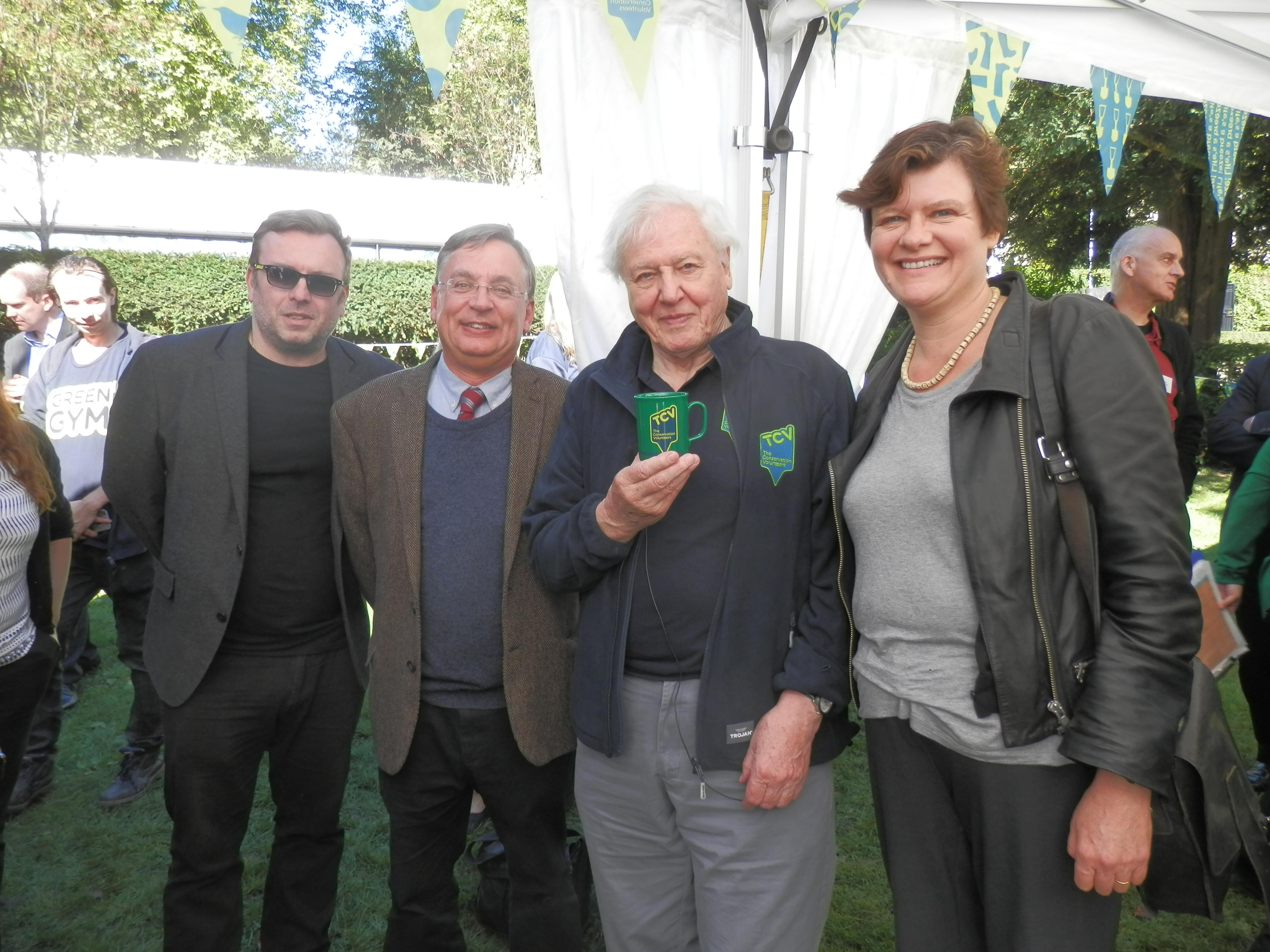Andrew Dismore AM, Sir David Attenborough, Cllr Sally Gimson