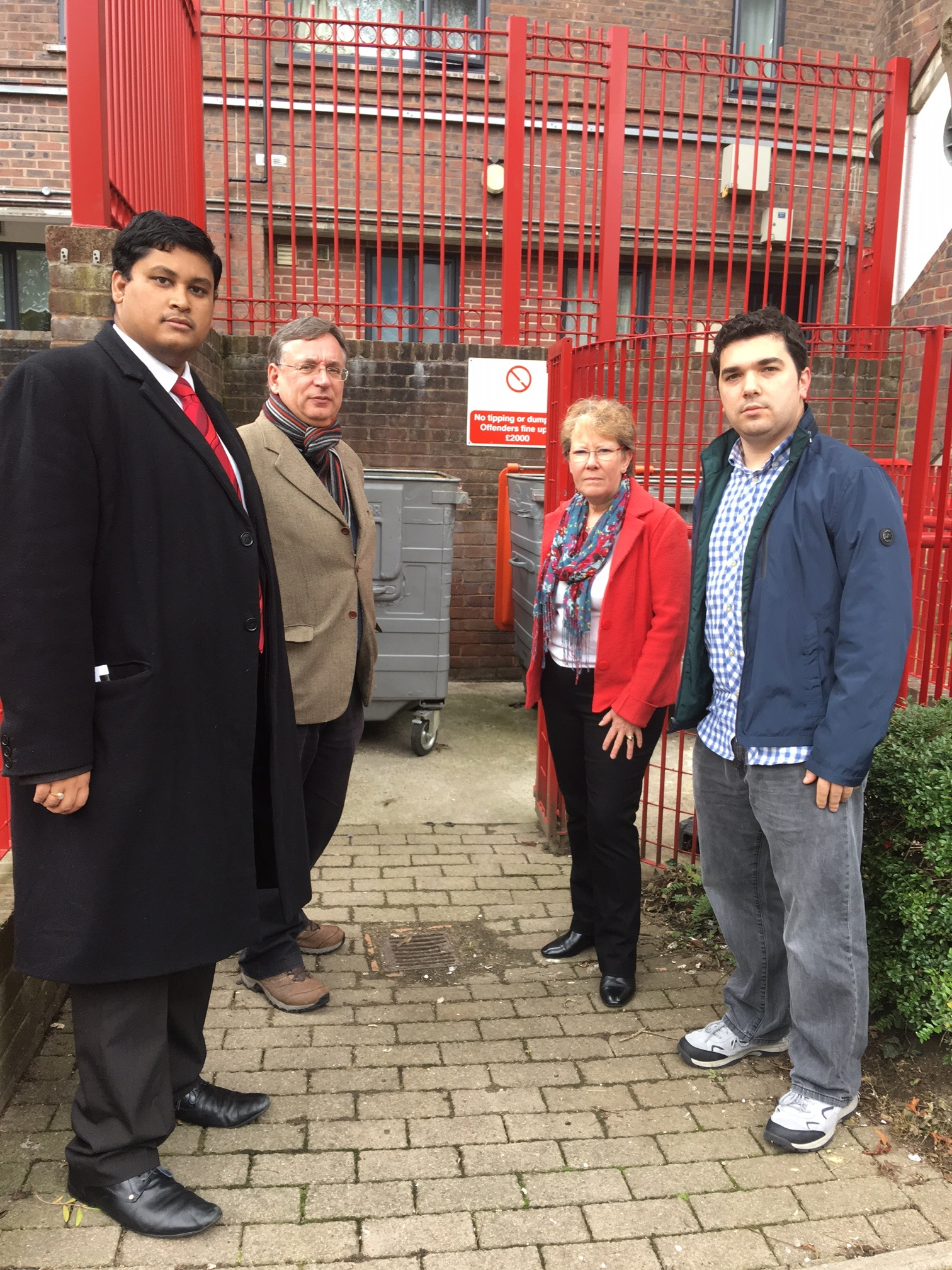 Cllr Arjun Mittra, Andrew Dismore AM, Cllr Alison Moore and Cllr Alon Or-bach