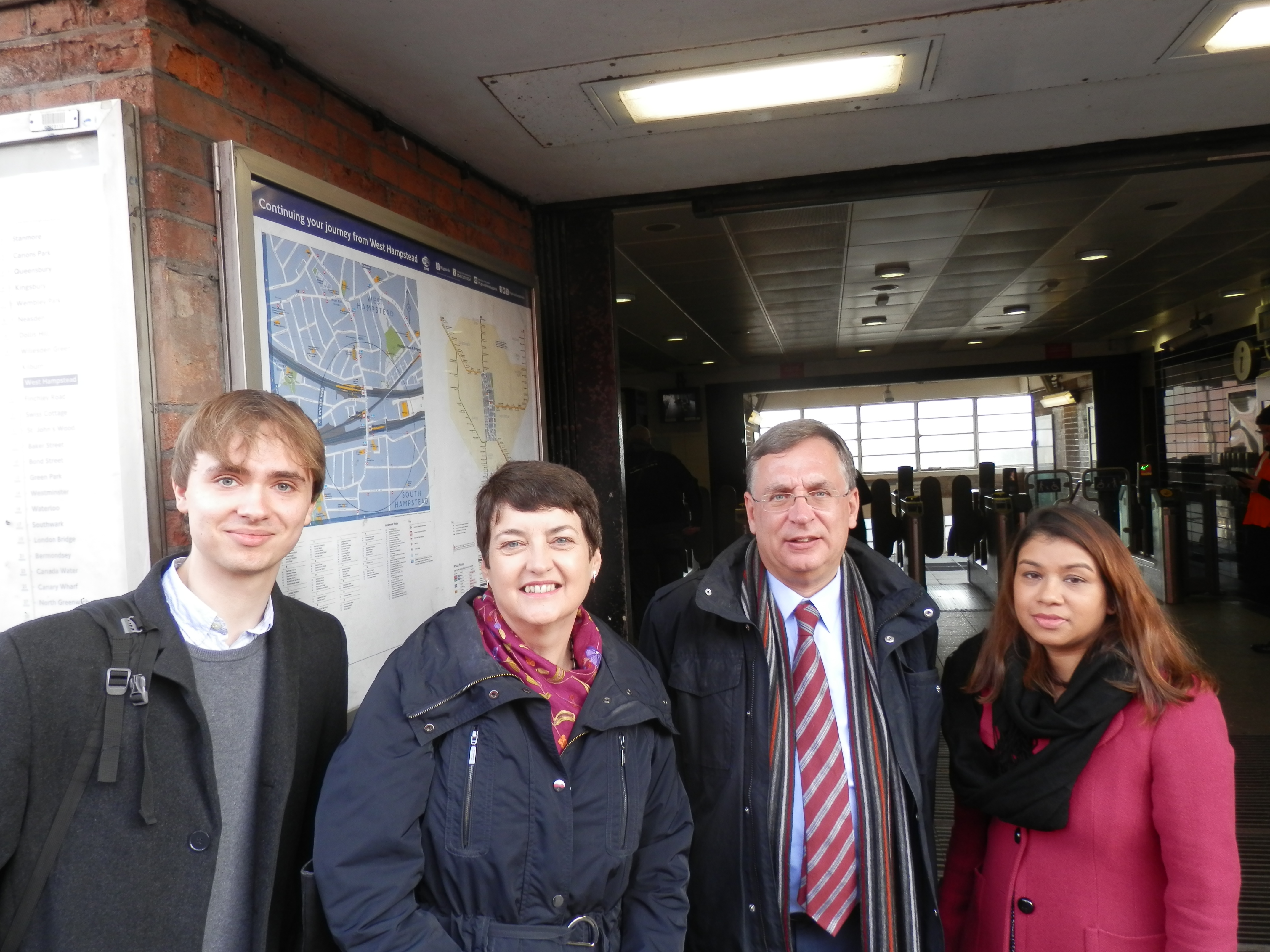 Cllr james Yarde, Val Shawcross, Andrew Dismore AM and Tulip Siddiq MP
