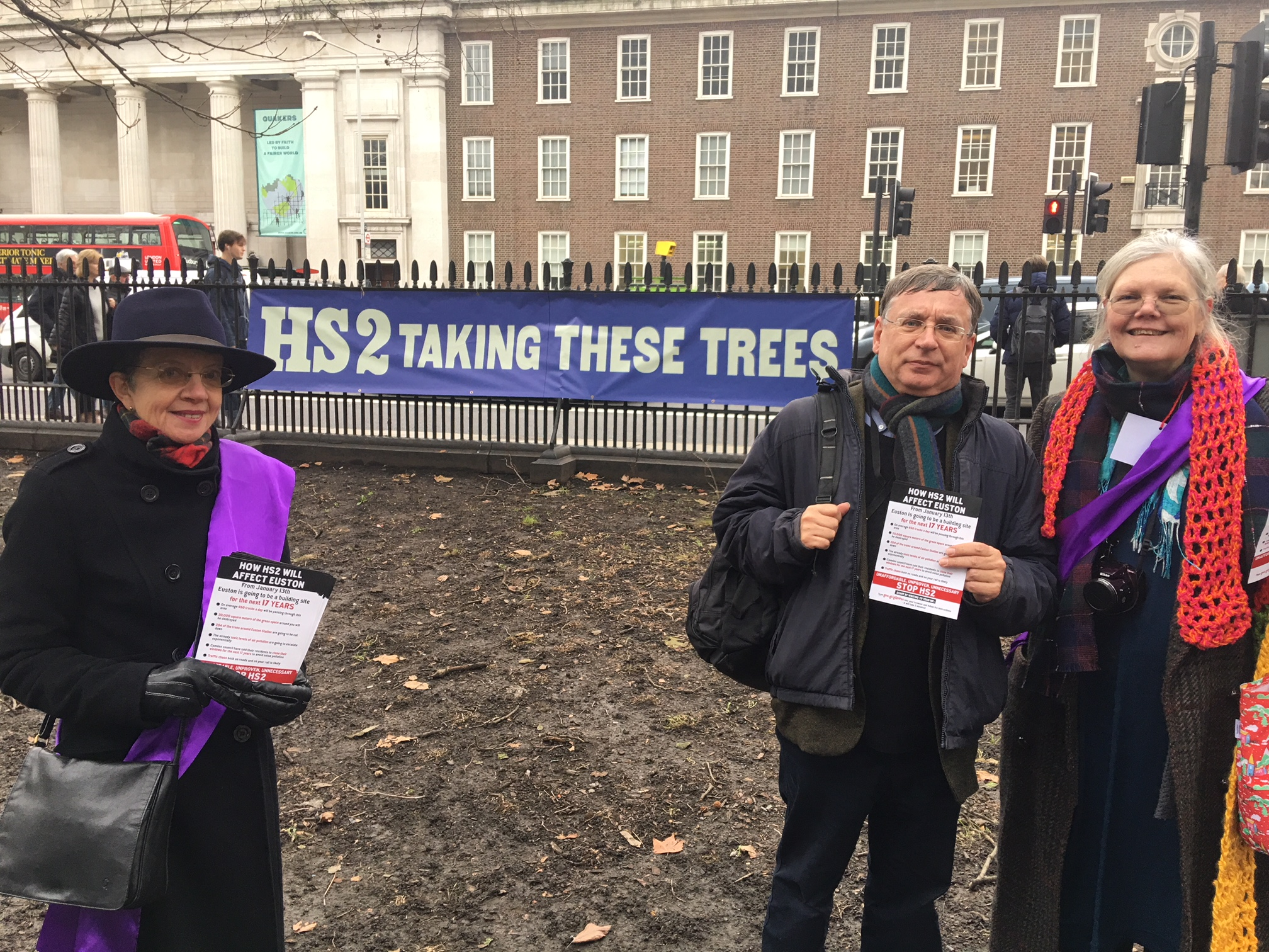 HS2 Trees protest